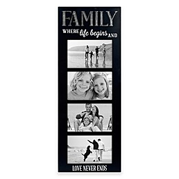 Malden® 4 Opening 4-Inch x 6-Inch Family Picture Frame