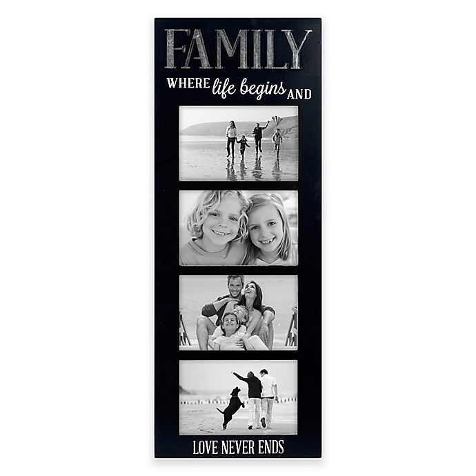 Alternate image 1 for Malden® 4 Opening 4-Inch x 6-Inch Family Picture Frame