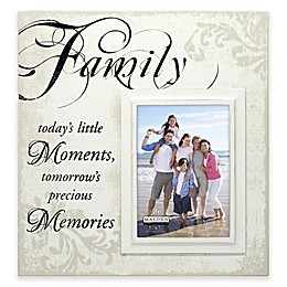 Malden® Family Moments 5-Inch x 7-Inch Wooden Photo Frame in Cream