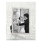 Prinz 6-Inch x 4-Inch Wedding Anniversary  Mr. & Mrs.  Glass Picture Frame