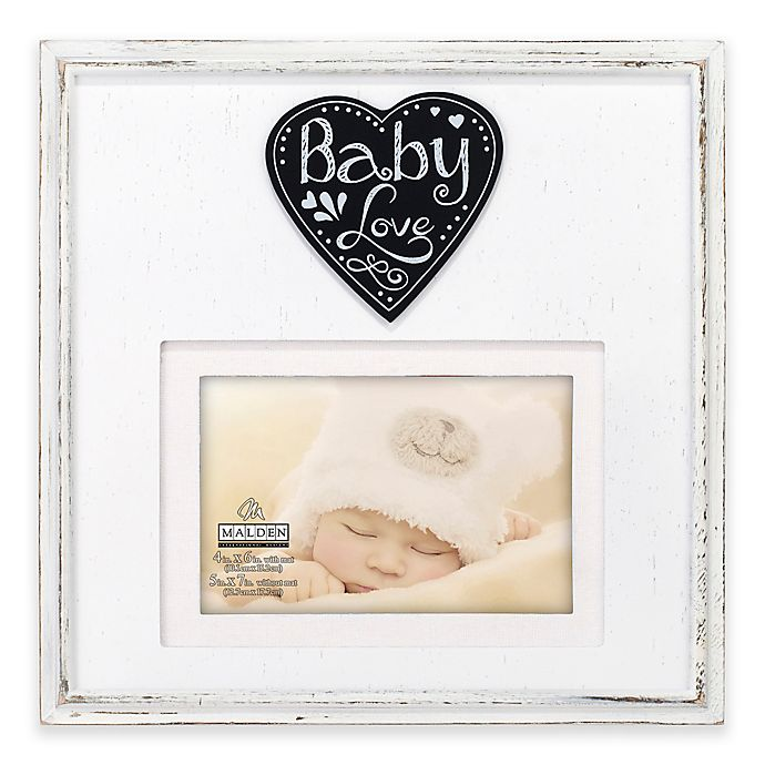 "Alternate image 1 for Malden® ""Baby Love"" 4-Inch x 6-Inch Wood Picture Frame"