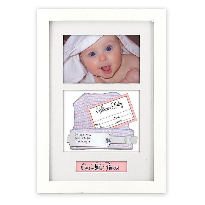 Alternate image 1 for Malden Designs® Baby Memento 4-Inch x 6-Inch Shadow Box in White