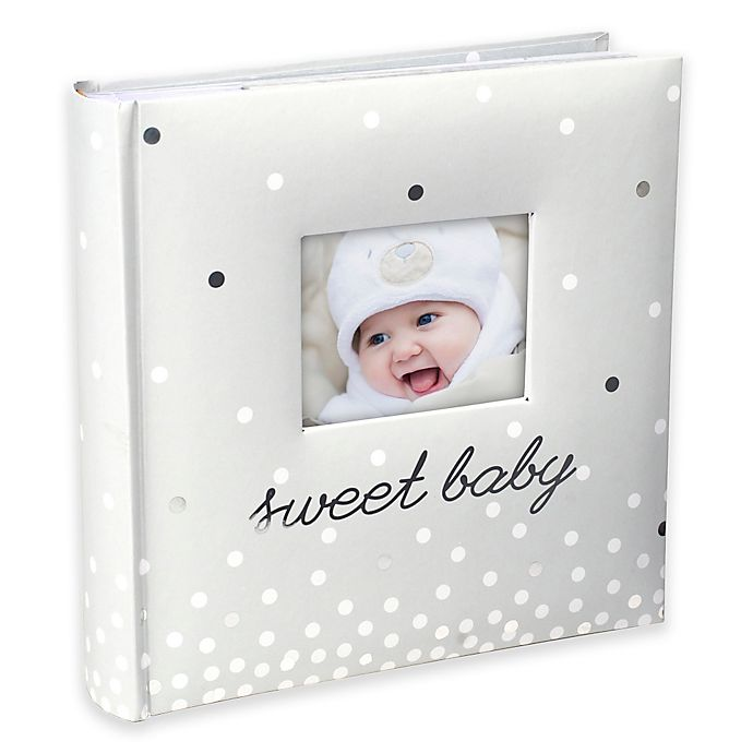 "Alternate image 1 for Malden® ""Sweet Baby"" 160-Photo Album in Cream"
