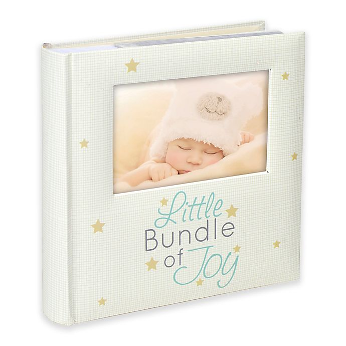 "Alternate image 1 for Malden® ""Little Bundle of Joy"" 160-Photo Album in Cream"