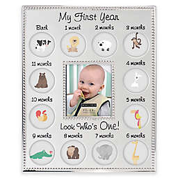 "Malden® 13-Photo ""My First Year"" Metal Collage Picture Frame"