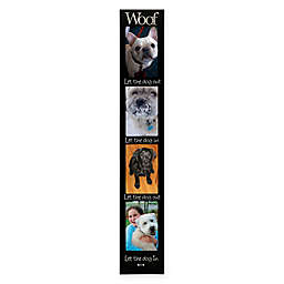 Malden® 4-Opening 4-Inch x 6-Inch Woof Memory Stick Collage Picture Frame