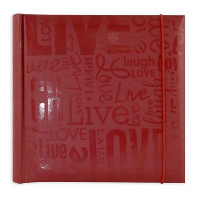 Quot Live Laugh Love Quot 200 Photo Album In Red Bed Bath Amp Beyond