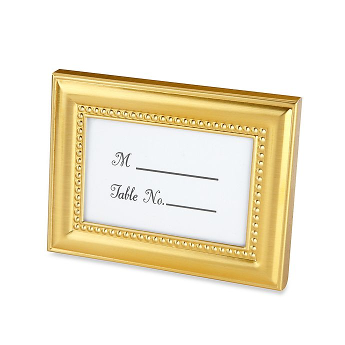 Alternate image 1 for Kate Aspen® Beaded Place Card Holder/Photo Frame