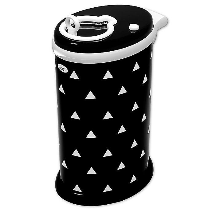 Alternate image 1 for Ubbi® Triangles Diaper Pail in Black/White