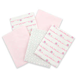 Gerber® 5-Pack of Flannel Receiving Blankets in Pink