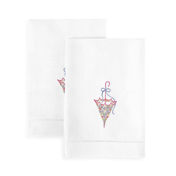 Alternate image 1 for Boutross Parasol Hand Towels in Pastel (Set of 2)