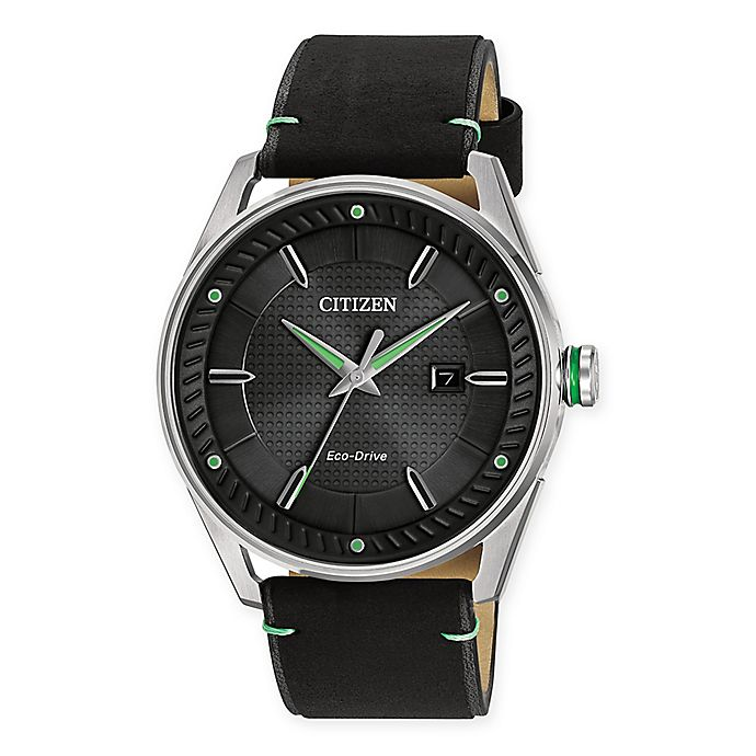 bfbde4271 Citizen Eco-Drive Men's 42mm Drive CTO Watch in Stainless Steel with Black  Leather Strap