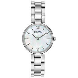 Bulova Classic Ladies' 27mm Mother of Pearl Dial Watch in Stainless Steel