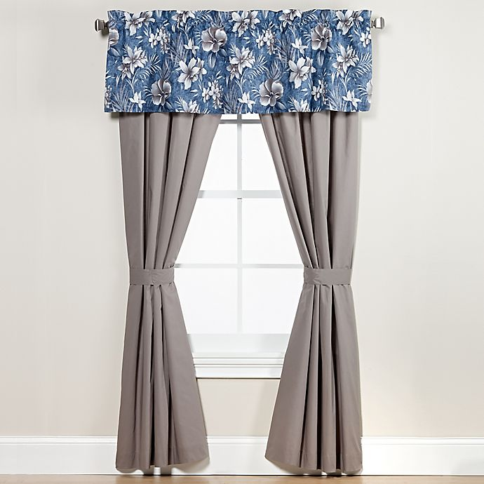 Alternate image 1 for Anguilla 84-Inch Window Curtain Panel Pair in Blue