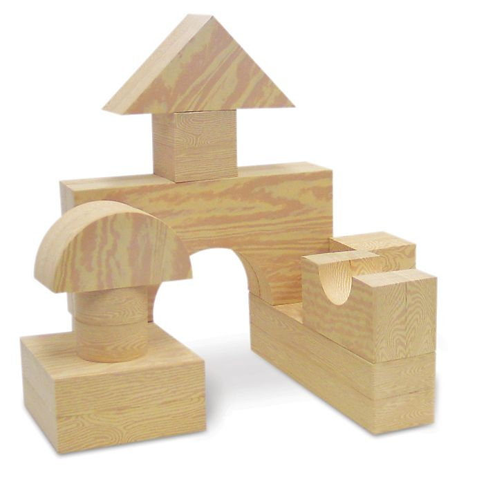 Alternate image 1 for Big Wood Like Blocks