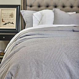 Amity Home Connie Seersucker Duvet Cover in Grey