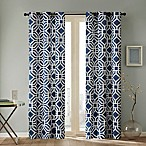 Intelligent Design Maci 84-Inch Grommet Top Window Curtain Panel in Blue
