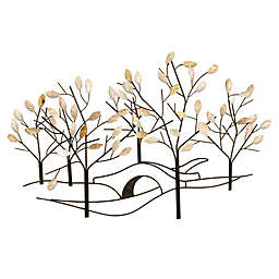 Tree Lined Street Metal Wall Art