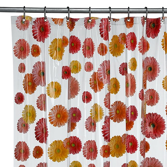 InterDesignR Gerber Daisy 72 Inch X 72 Inch Vinyl Shower Curtain