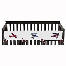 Sweet Jojo Designs Vintage Aviator Long Crib Rail Guard Covers