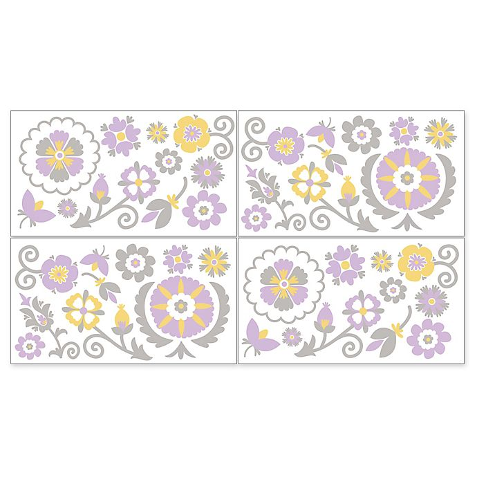 Alternate image 1 for Sweet Jojo Designs Suzanna Wall Decals in Lavender/White