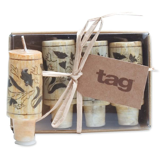 Cork Candles: Wine Cork Candles In Beige (Set Of 4)