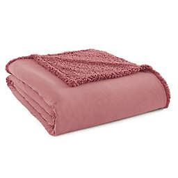 Micro Flannel® to Sherpa Full/Queen Blanket in Rose