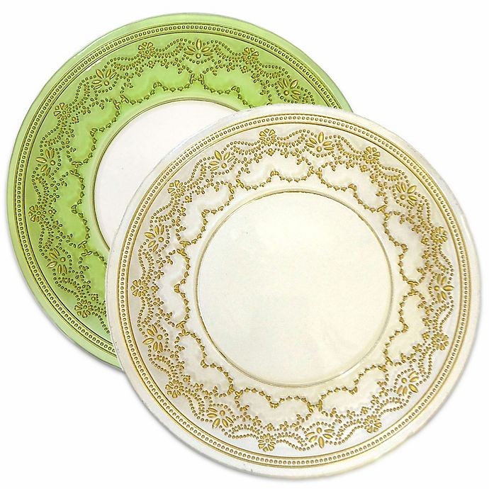 Alternate image 1 for Classic Touch Trophy Salad Plates (Set of 4)