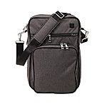 Ju-Ju-Be® Onyx Helix Messenger Diaper Bag in Chrome