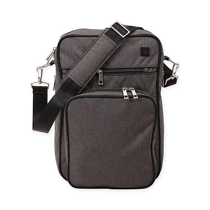 Alternate image 1 for Ju-Ju-Be® Onyx Helix Messenger Diaper Bag in Chrome