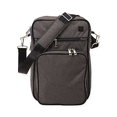 Ju-Ju-Be® Onyx Helix Messenger Diaper Bag in Chrome