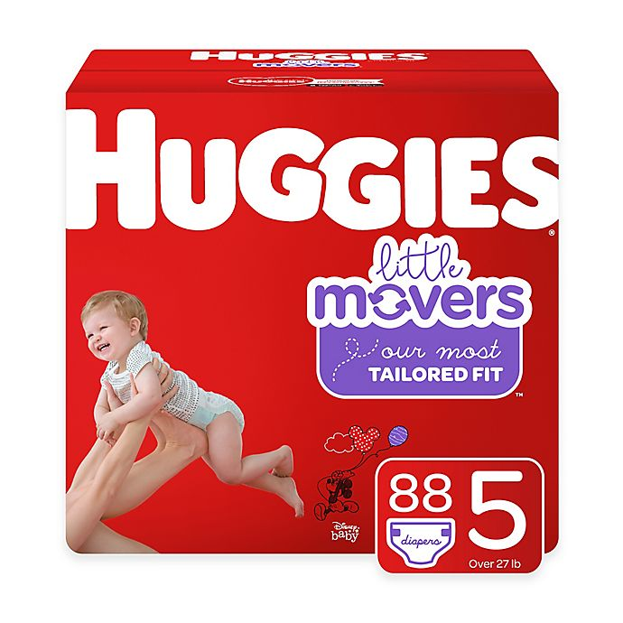 Alternate image 1 for Huggies® Little Movers 88-Pack Size 5 Mega Colossal Diapers