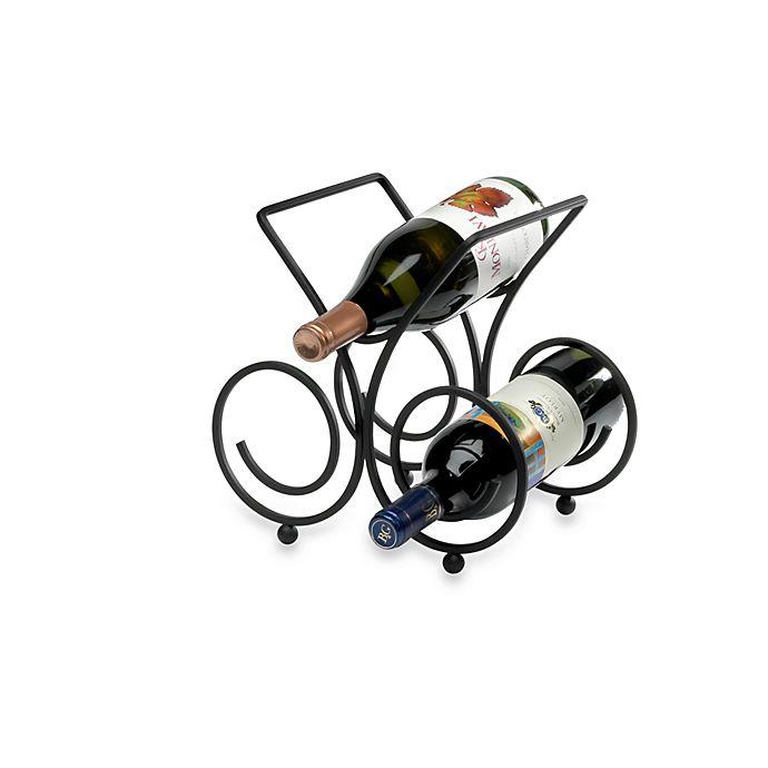 Alternate image 1 for Spectrum™ Bordeaux Black 3-Bottle Wine Rack