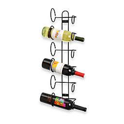 Spectrum™ Black 6-Bottle Wall Mount Wine Rack
