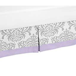 Sweet Jojo Designs Lavender and Grey Elizabeth Bed Skirt