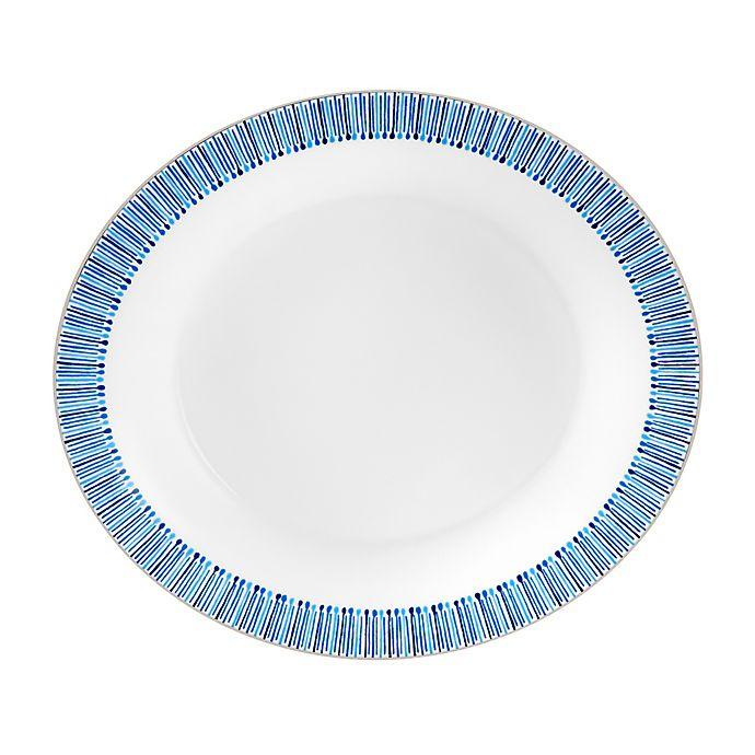 Alternate image 1 for Monique Lhuillier Waterford® Malibu Azure Oval Vegetable Bowl