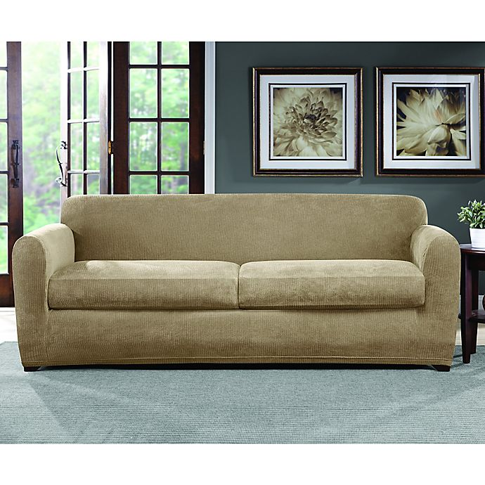 Alternate image 1 for Sure Fit® Ultimate Stretch Chenille Sofa Slipcover