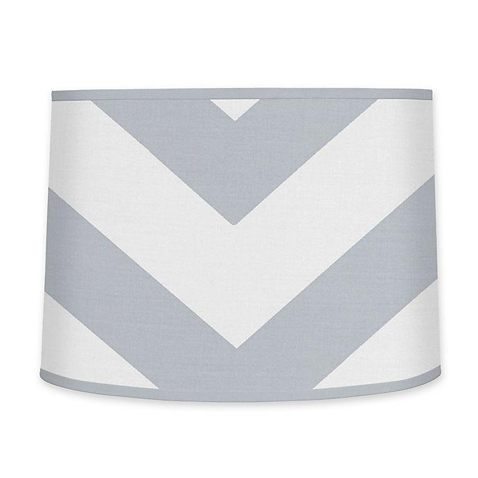 Alternate image 1 for Sweet JoJo Designs Chevron Lamp Shade in Grey/White