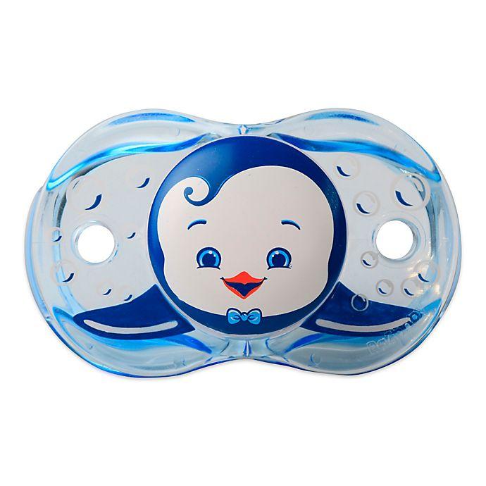 Alternate image 1 for RaZbaby® Keep-It-Kleen® Penguin Pacifier in Blue