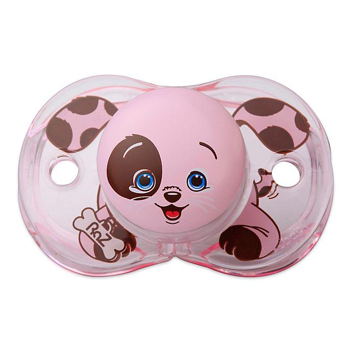 Alternate image 1 for RaZbaby® Keep-It-Kleen®  Puppy Pacifier in Pink