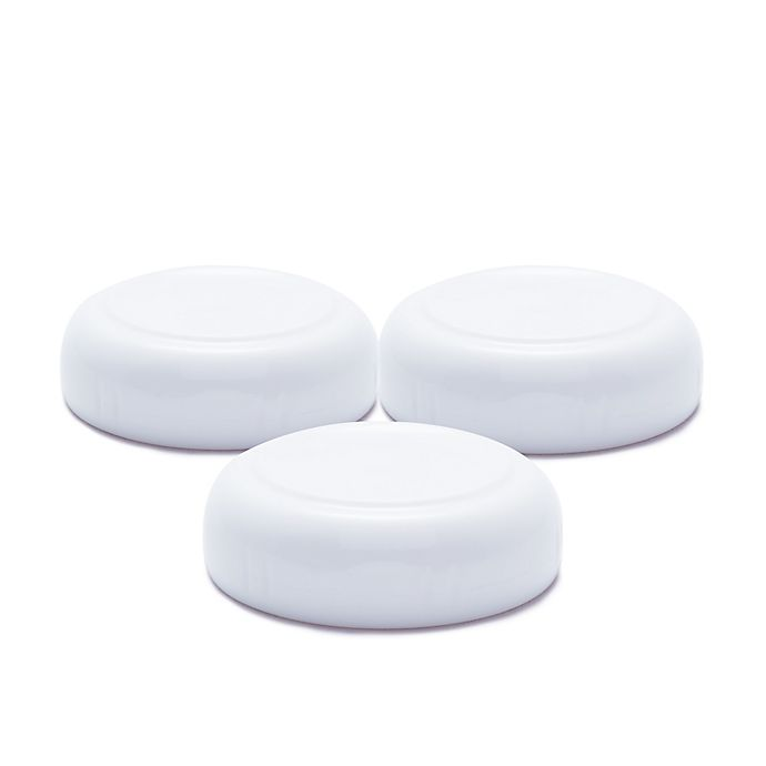 Alternate image 1 for 3-Pack Sealing Caps for Joovy® Boob™ Glass Bottles in White
