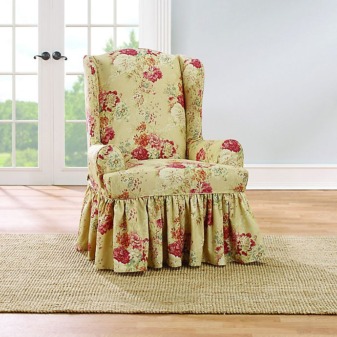 Marvelous Sure Fit Ballad Bouquet By Waverly Wingback Chair Gmtry Best Dining Table And Chair Ideas Images Gmtryco