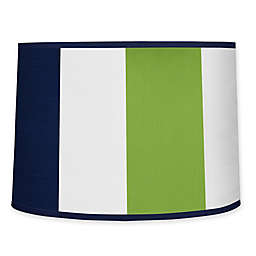 Sweet Jojo Designs Navy and Lime Stripe Lamp Shade