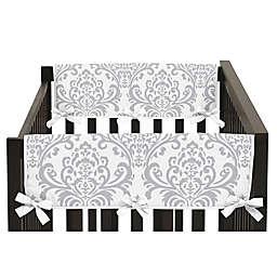 Sweet Jojo Designs Elizabeth Short Crib Rail Guard Covers in Lavender/Grey (Set of 2)