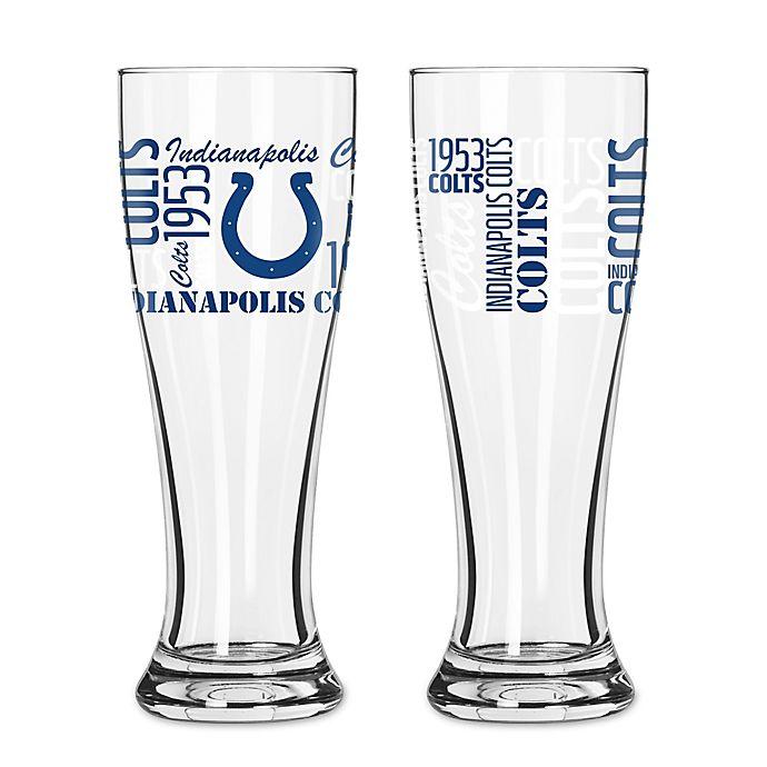 Boelter Nfl Indianapolis Colts 2 Pack Pilsner Glass Set