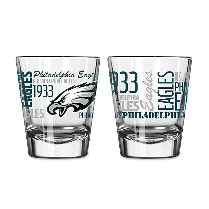 Alternate image 1 for Boelter NFL Philadelphia Eagles 2-Pack Shot Glass Set