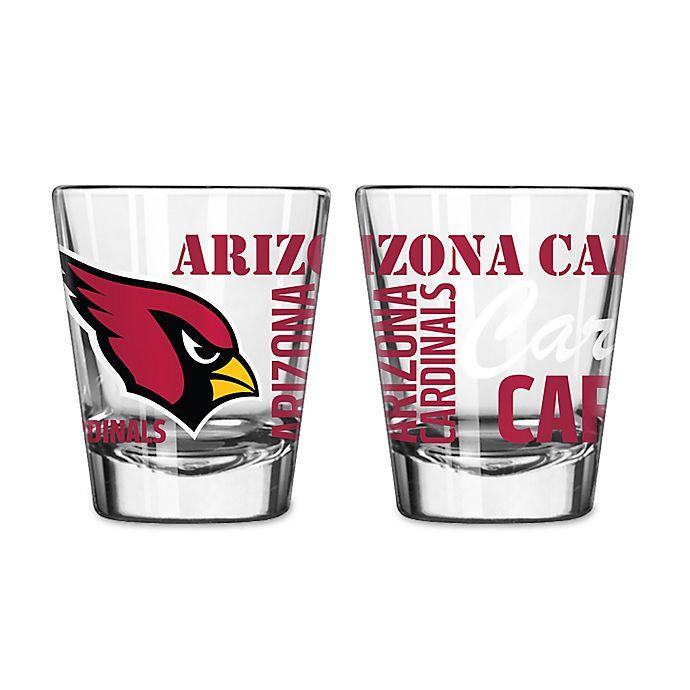 Alternate image 1 for Boelter NFL Arizona Cardinals 2-Pack Shot Glass Set
