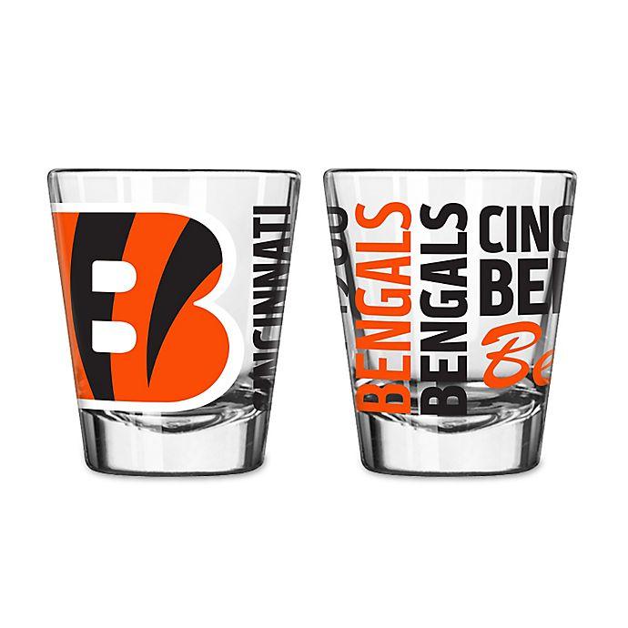 Alternate image 1 for Boelter NFL Cincinnati Bengals 2-Pack Shot Glass Set