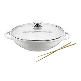 Berndes® Vario® Click Pearl 13.5-Inch Ceramic Nonstick Wok with Lid