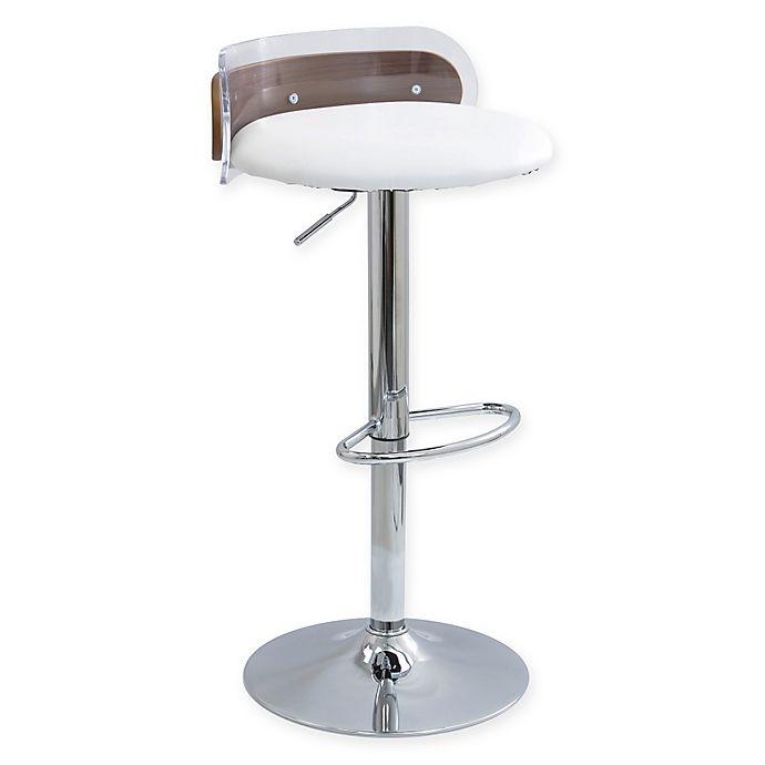 Lumisource Arc Adjustable Height Swivel Bar Stool With